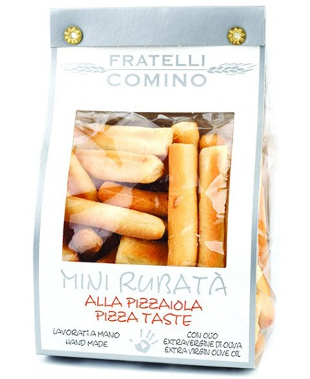 Duonos lazdelės FRATELLI COMINO Mini Rubata, picos skonio, 120 g