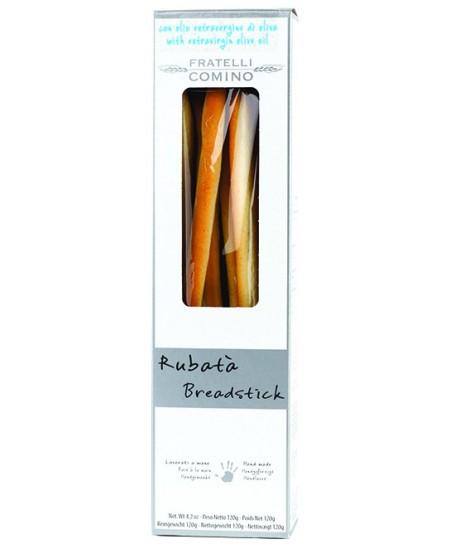 Duonos lazdelės grissini FRATELLI COMINO Rubata, su alyvuogių aliejumi, 120 g