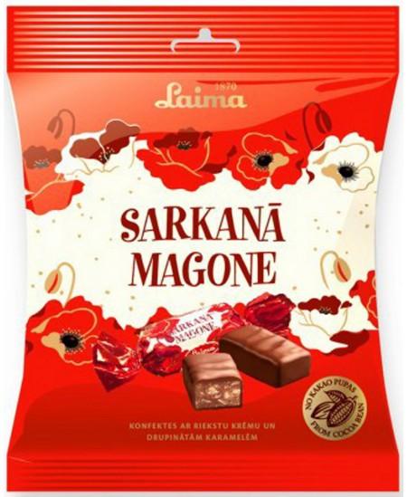 Šokoladiniai saldainiai LAIMA RAUDONOJI AGUONA, 175 g