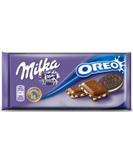 Pieniškas šokoladas su sausainiu MILKA Oreo Choco, 100 g