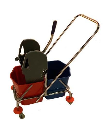 Valymo vežimėlis BT087, metalinis, du kibirai po 18 l