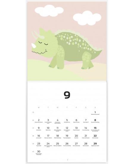 """Sieninis kalendorius, vienos dalies """" Dinosauru"""", 2020 m"""