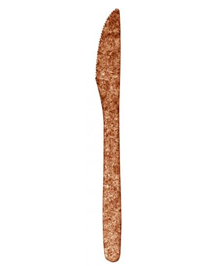 Ekologiški vienkartiniai peiliai iš PLA ir kviečių sėlenų BIOTREM, 17.5 cm, 10 vnt