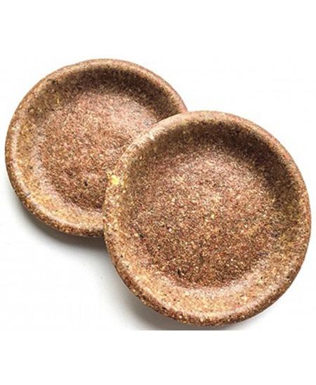 Ekologiškos vienkartinės lėkštės iš kviečių sėlenų BIOTREM, 20 cm, 10 vnt