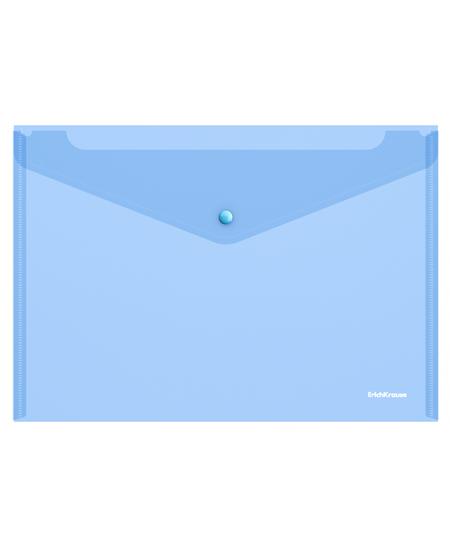 Dėklas - vokas su spaustuku  ErichKrause, A4, mėlynas