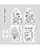 """Didelis spalvinamas rinkinys ERICH KRAUSE """"Kosminis laivas"""", 1.67 m"""