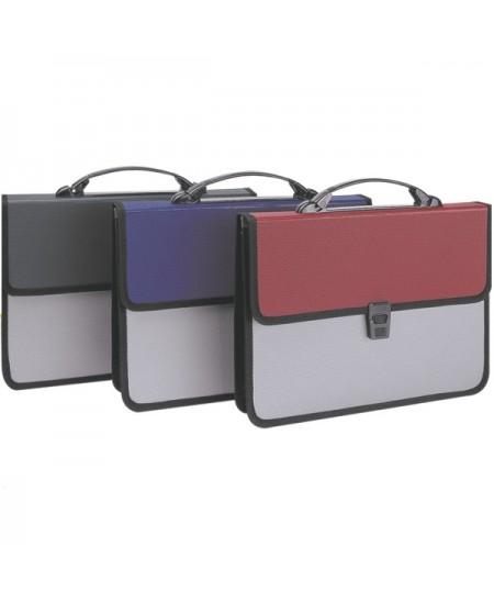 Dėklas - rankinė DELI, A4, įvairių spalvų