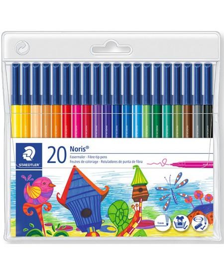 Flomasteriai Staedtler NORIS CLUB 20 spalvų