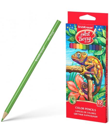 Spalvoti pieštukai ERICH KRAUSE Art Berry, tribriauniai, 12 spalvų