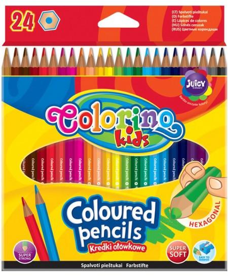 Spalvoti pieštukai Colorino Kids, 24 spalvų