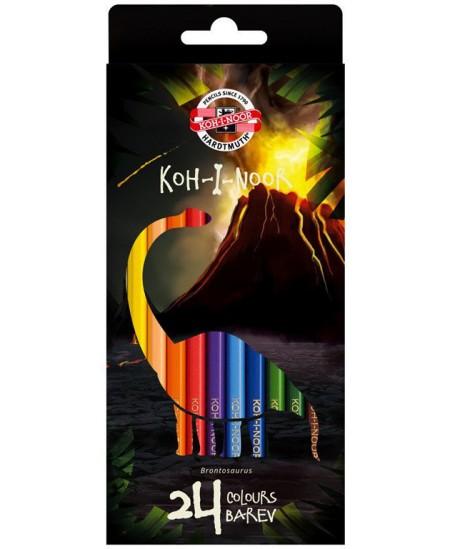 Spalvoti pieštukai KOH-I-NOOR Dino, 24 spalvų