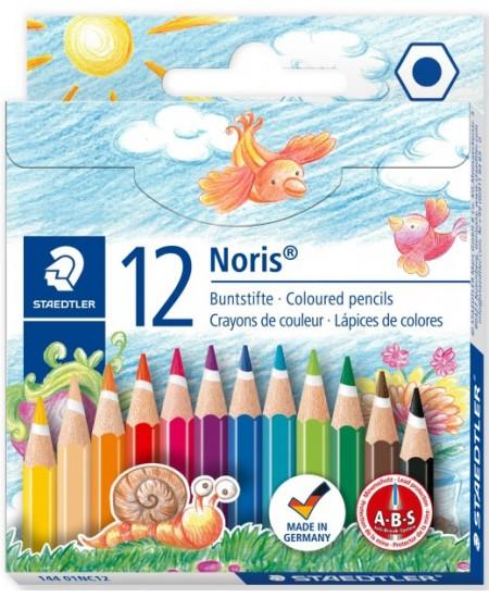 Spalvotų pieštukų rinkinys STAEDTLER NORIS CLUB, trumpi, 12 spalvų