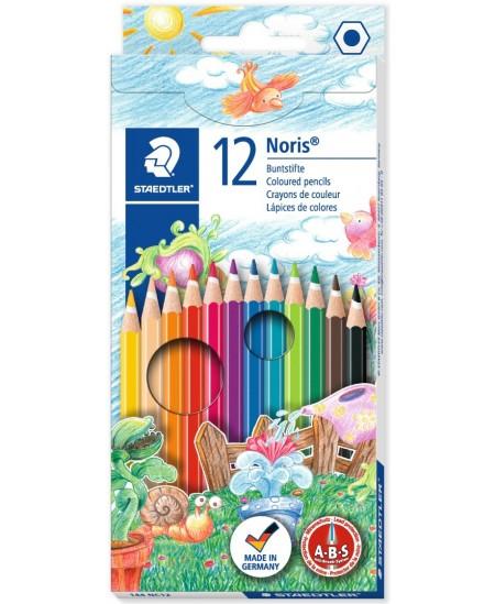 Spalvotų pieštukų rinkinys STAEDTLER NORIS CLUB, 12 spalvų