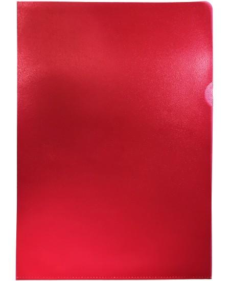 Dėklas L formos, 100 mikr., A4, raudonas