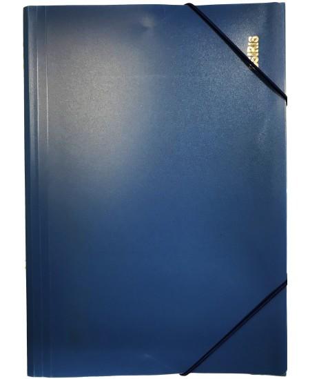 Aplankas su guma Osiris, plastikinis, A4, mėlynas