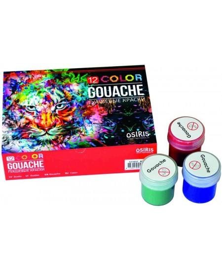 Guašas OSIRIS, 12 spalvų, 20 ml