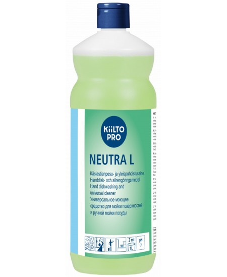 Indų ploviklis KIILTO Neutra L, neutralus, koncentruotas, 1 l