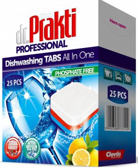 Indaplovių tabletės Dr. PRAKTI Professional, 25 vnt