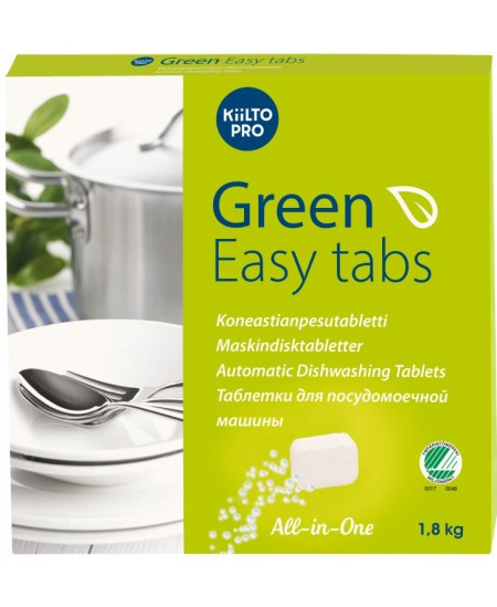 Ekologiškos indaplovių tabletės KIILTO Green Easy Tabs, 100 vnt.x18 g