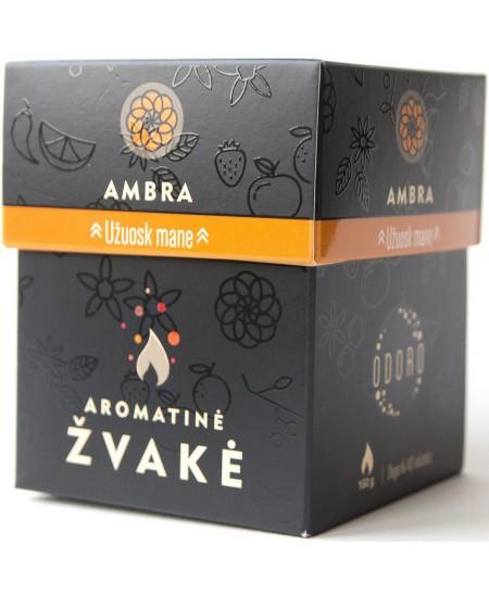 """Aromatinė ODORO žvakė  """"Ambra"""", dėžutėje"""