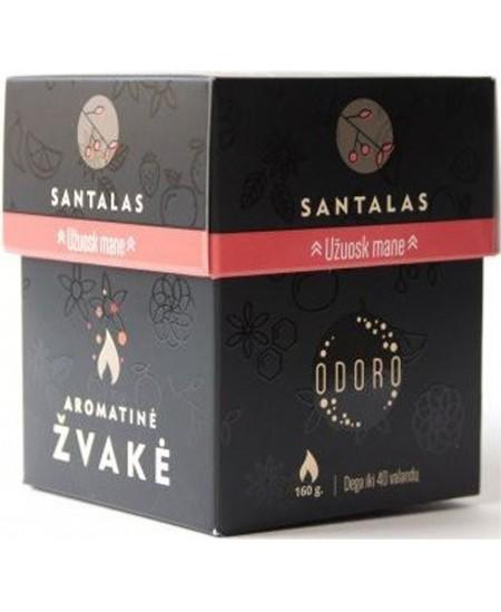"""Aromatinė ODORO žvakė  """"Santalas"""", dėžutėje"""