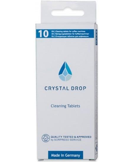 Valymo tаbletės CRYSTAL DROP, 10 vnt