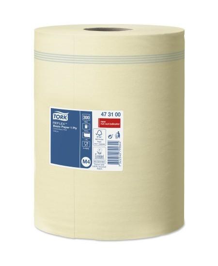 Popieriniai rankšluosčiai ritinyje TORK Basic (M4), 473100, 300 m, 1 rit.