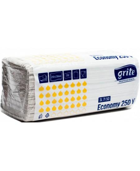 Lapiniai popieriniai rankšluosčiai GRITE Economy 250 V, 1 pakelis