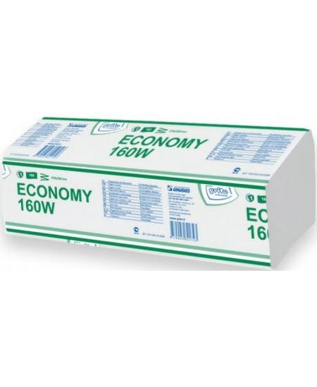 Lapiniai popieriniai rankšluosčiai GRITE Economy 160 W, 1 pakelis