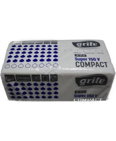 Lapiniai popieriniai rankšluosčiai GRITE SUPER 150 V, 1 pakelis