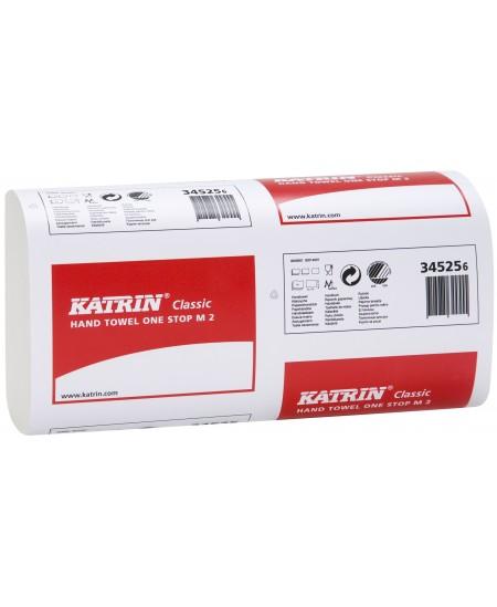Lapiniai popieriniai rankšluosčiai KATRIN Classic One Stop M2, 1 pakelis