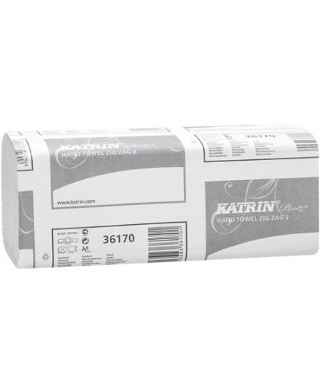 Lapiniai popieriniai rankšluosčiai KATRIN Plus One Stop, 1 pakelis