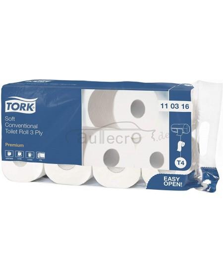 Buitinis tualetinis popierius TORK Premium Extra Soft T4, 110316, 8 ritiniai