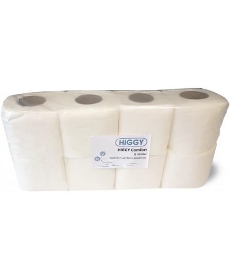 Buitinis tualetinis popierius HIGGY Comfort, 8 ritiniai