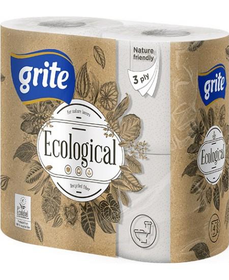Buitinis tualetinis popierius GRITE Plius Ecological, 4 ritiniai