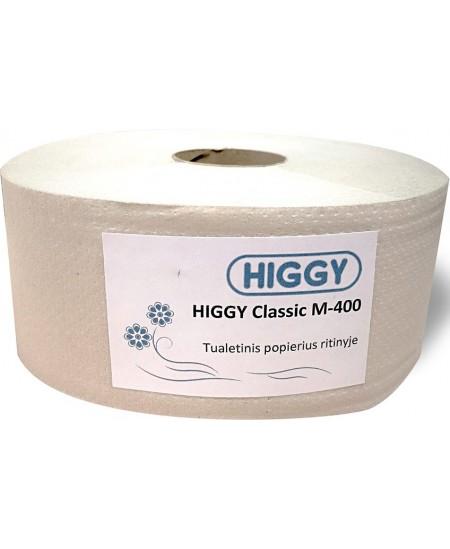 Tualetinis popierius ritinyje HIGGY Classic M-400, 1 ritinys