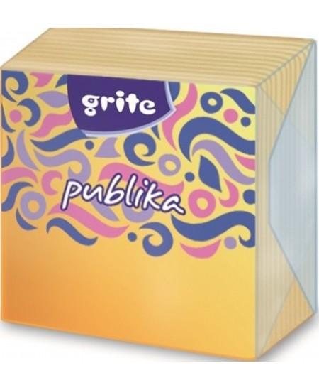 Stalo servetėlės GRITE PUBLIKA, įvairių spalvų, 1 sluoksnio, 24x24 cm, 75 vnt.