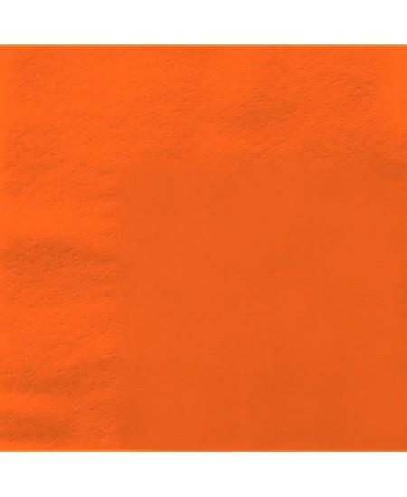Stalo servetėlės LENEK, oranžinės spalvos, 1 sluoksnio, 24x24 cm, 400 vnt.