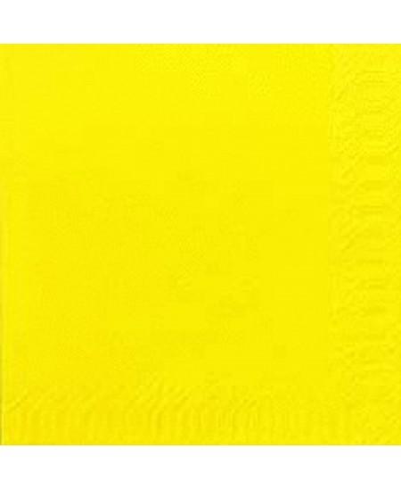 Stalo servetėlės LENEK, geltonos spalvos, 1 sluoksnio, 24x24 cm, 400 vnt.