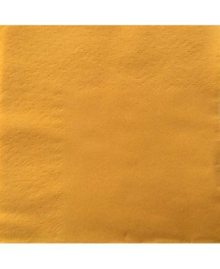 Stalo servetėlės LENEK, šviesiai geltonos spalvos, 1 sluoksnio, 24x24 cm, 400 vnt.