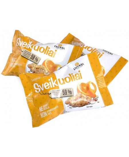 Sausainiai DZŪKIJA Sveikuoliai, su apelsinų žievelėmis, 25 g