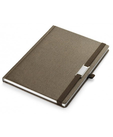 Vandeniui atspari užrašų knygelė KARTS, A5, langeliais, ruda