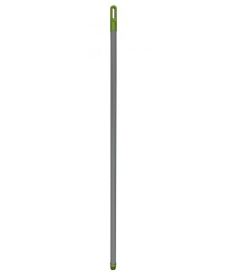 Metalinis kotas padengtas plastmase šepečiams,su sriegiu įsukimui ir rankena,120 cm.Įv.spalvų.