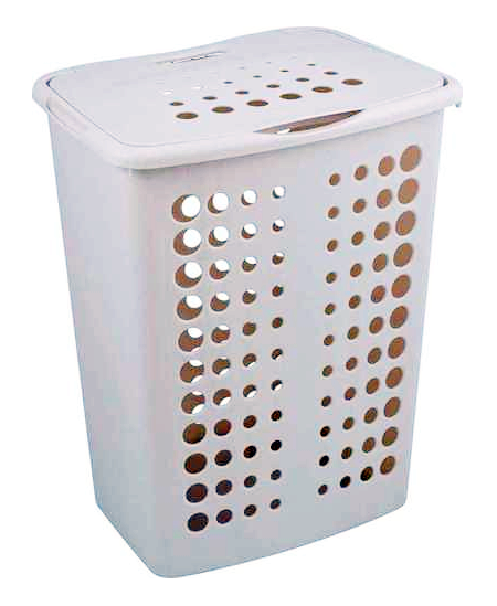 Keturkampė skalbinių dėžė su dangčiu, 40~50 L.