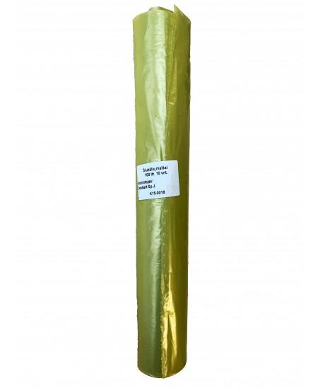 Šiukšlių maišai 100 litrų, rulone 10 vnt., storis 35 µm, LDPE, geltonos sp.