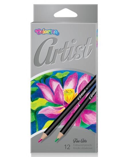 Spalvoti pieštukai COLORINO Artist, 12 spalvų