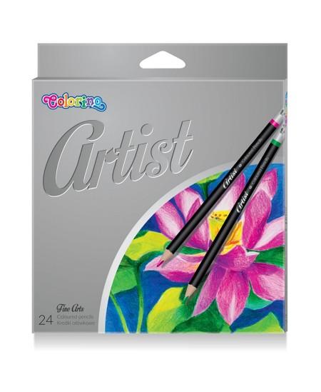 Spalvoti pieštukai COLORINO Artist, 24 spalvų