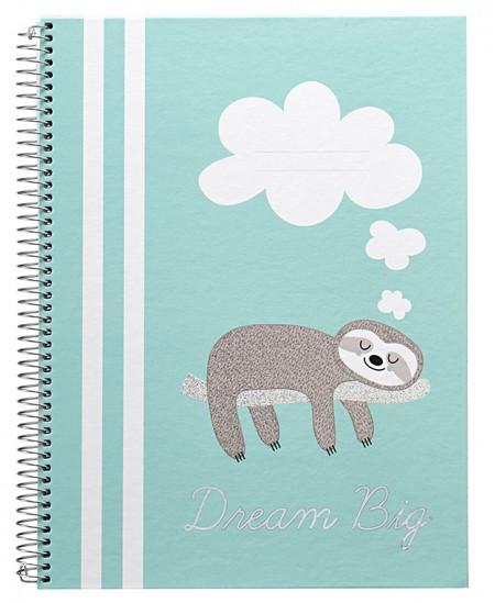 Sąsiuvinis B´LOG DREAM BIG, A4, 80 lapų, linijomis, su spirale