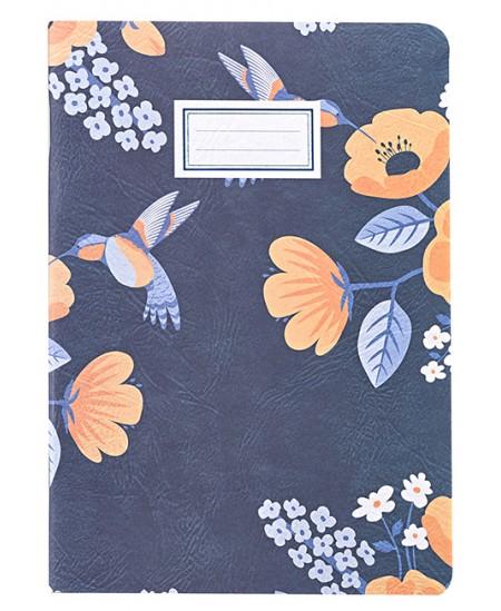 Sąsiuvinis B´LOG FLOWERS, A4, 48 lapai, linijomis