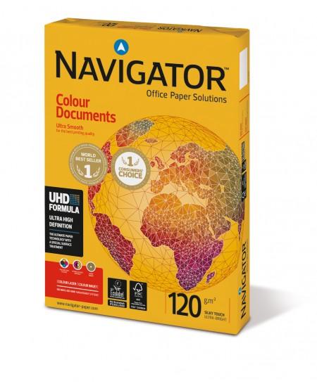 Popierius NAVIGATOR Colour Documents, 120 g/m2, A4, 250 lapų